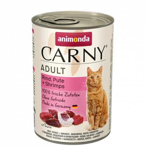 Влажный корм Animonda Карни для кошек говядина, индейка, креветки 400г