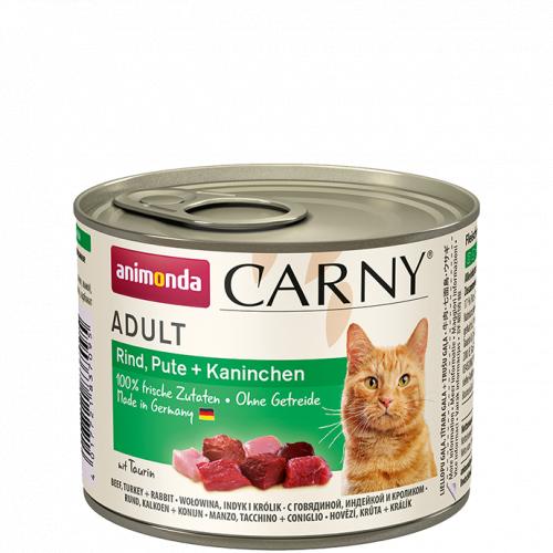 Влажный корм Animonda Карни для кошек говядина, индейка, кролик 200г