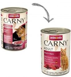 Влажный корм Animonda Карни для кошек говядина, сердце 400г