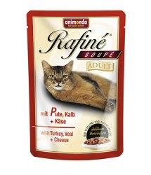 Влажный корм Animonda Рафин Суп для кошек индейка, телятина,сыр 100г