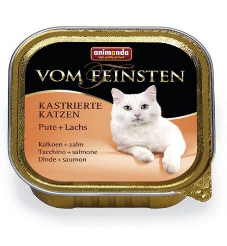 Влажный корм Animonda Фом Файстен для кастрированных котов индейка, форель 100г