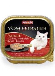 Влажный корм Animonda Фом Файстен для кошек Керн , говядина,курица, травы 100г