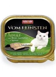 Влажный корм Animonda Фом Файстен для кошек Керн , говядина, лосось, шпинат 100г