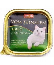 Влажный корм Animonda Фом Файстен для кошек индейка, кролик 100г