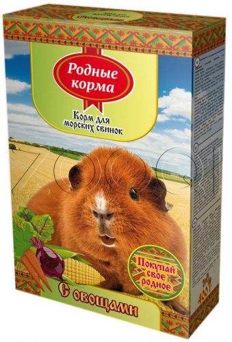 Корм РОДНЫЕ КОРМА для морских свинок овощами 400гр.