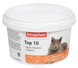 Витаминно-минеральная добавка BEAPHAR Кормовая добавка для котов с таурином, биотином, протеином 180шт
