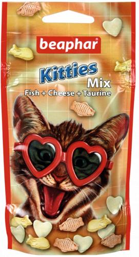 Функциональное лакомство BEAPHAR Crazy Cat Kitties 3-Mix