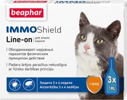 Капли BEAPHAR IMMO SHIELD LINE-ON CAT 3x1m