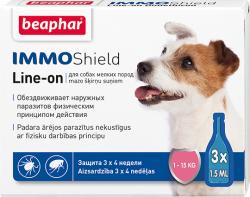 Капли BEAPHAR IMMO SHIELD LINE-ON DOG 3x1.5ml