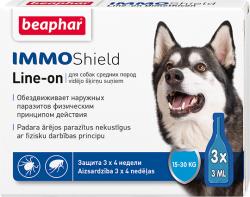 Капли BEAPHAR IMMO SHIELD LINE-ON DOG 3x3ml