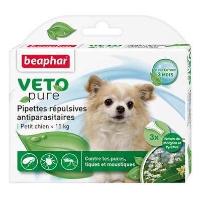 Био капли BEAPHAR для взрослых собак мелких пород, 3 пипетки