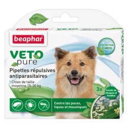 Био капли BEAPHAR для взрослых собак средних пород, 3 пипетки