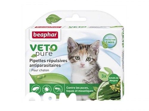 Био капли BEAPHAR для котят от блох и клещей, 3 пипетки