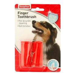 Щетка-напальчник BEAPHAR для чистки зубов собак и котов (2 шт)