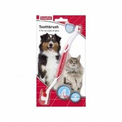 Двухсторонняя щетка BEAPHAR для чистки зубов у собак и кошек
