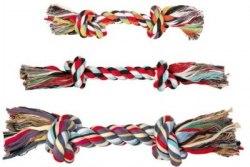"""Игрушка TRIXIE для собаки """"DENTAfun"""" в виде веревки с двумя узлами, хлопковая 25г/15см"""