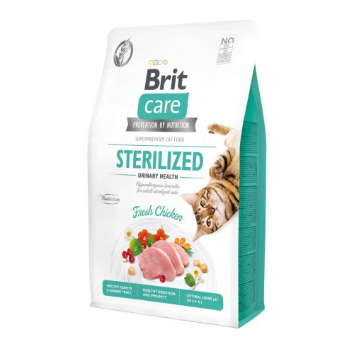 Сухой корм Brit 2кг Care Cat GF Sterilized Urinary Health