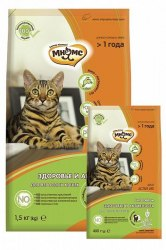 Сухой корм Мнямс Active Life с кроликом для взрослых кошек 1,5кг + В ПОДАРОК 2 ПАУЧА