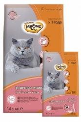 Сухой корм Мнямс Skin&Coat с лососем для взрослых кошек 400г + В ПОДАРОК ПАУЧ