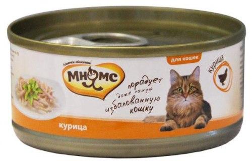 Влажный корм Мнямс для кошек Курица в нежном желе 70г