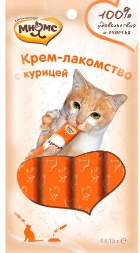 Крем-лакомство Мнямс для кошек с курицей 15г