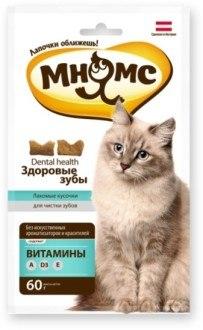 """Хрустящие подушечки Мнямс для кошек """"Здоровые зубы"""" 60г"""