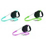 Поводок-рулетка В НАЛИЧИИ Flexi Color Dots тросовый, (М) до 20кг/5м