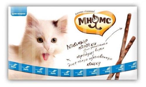 Лакомые палочки Мнямс 13,5 см для кошек с лососем и форелью 10х5 г