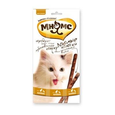 Лакомые палочки Мнямс 13,5см для кошек с цыпленком и уткой 3x5г