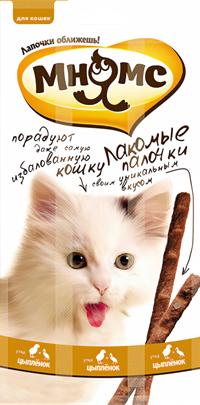 Лакомые палочки Мнямс для котят с индейкой 3x3г