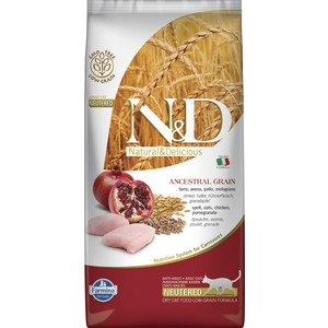 Сухой корм Farmina N&D Cat Chiken & Pomegranate Neutered, НА РАЗВЕС 100г