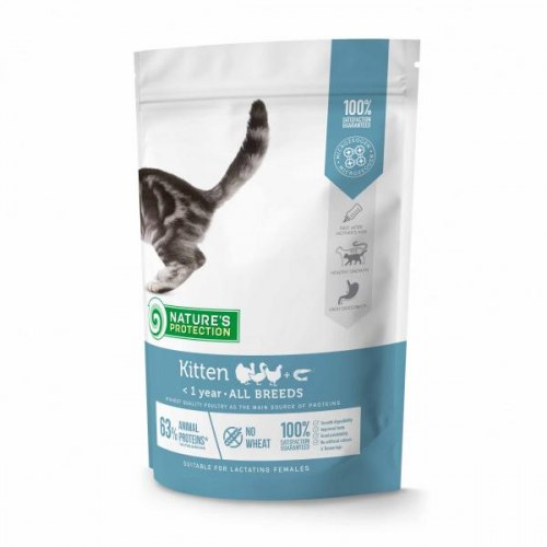 Сухой корм Nature's Protection Kitten Poultry with krill 400 г