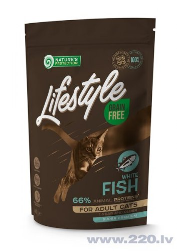 Сухой корм Nature's Protection Lifestyle Grain Free White Fish Sterilised 400г