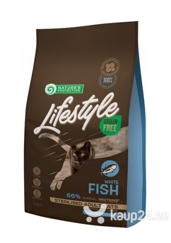 Сухой корм Nature's Protection Lifestyle Grain Free White Fish Sterilised 7кг
