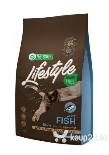 Сухой корм Nature's Protection Lifestyle Grain Free White Fish Sterilised 7кг