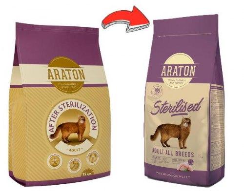 Сухой корм Araton Sterilization 15 кг