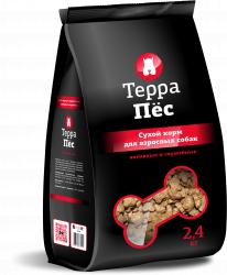 Сухой корм Терра Пес для взрослых активных и служебных собак 12 кг