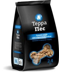 Сухой корм Терра Пес для взрослых собак мелких и средних пород 12 кг.