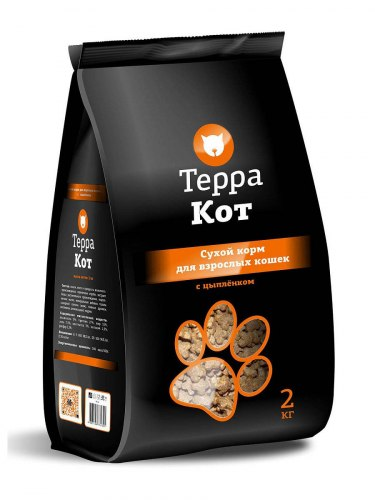 Сухой корм Терра Пес для кошек с цыпленком 2кг