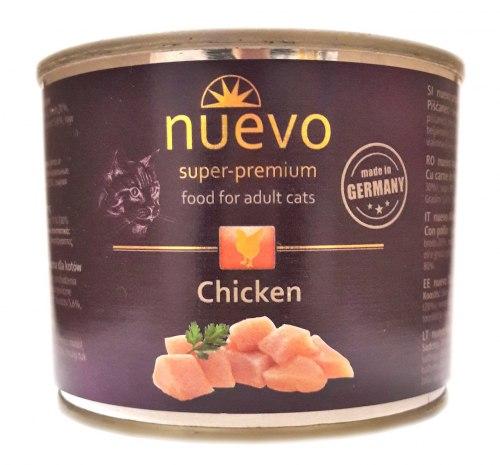 Влажный корм NUEVO для взрослых кошек с курицей 200 г.
