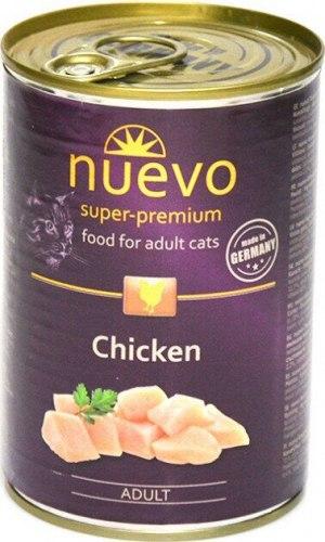 Влажный корм NUEVO для взрослых кошек с курицей 400 г.