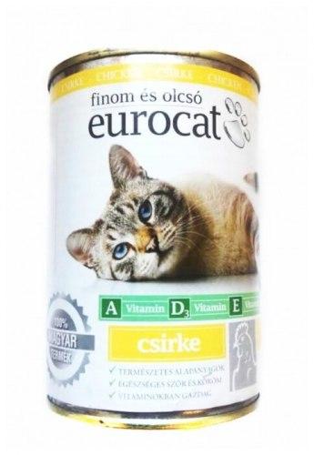 Влажный корм Eurocat для кошек с курицей 415 г.