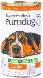 Влажный корм Eurodog для собак с говядиной 1240 г.