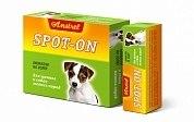 Биокапли антипаразитарные на холку Amstrel Spot-on для щенков и собак мелких пород 1 флакон/2 мл