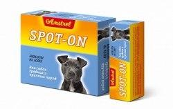 Биокапли антипаразитарные на холку Amstrel Spot-on для щенков и собак средних и крупных пород 1 флакон/5 мл