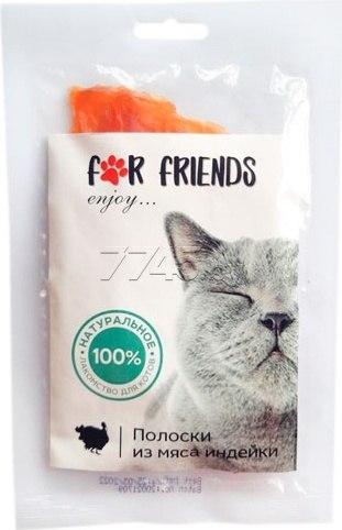 Лакомство For Friends для кошек Полоски из мяса утки, 50 г