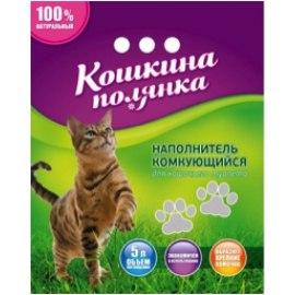 Наполнитель В НАЛИЧИИ Кошкина Полянка комкующийся бентонитовый, 5кг