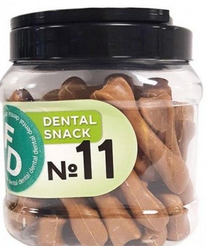 Лакомство For Dogs Рецепт №11 Dental Snack (глюкозамин, ходроитин) размер 8см, 750г