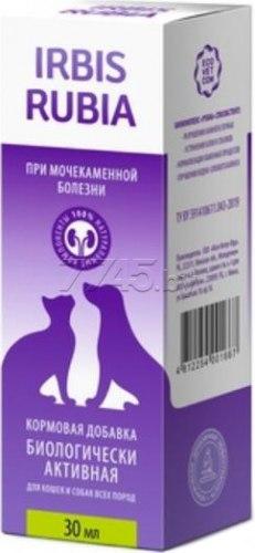 Кормовая добавка Ирбис РУБИА при мочекаменной болезни для кошек и собак , 30 мл