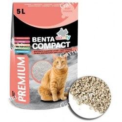 Наполнитель COMFY BENTA комкующийся из бентонита Compact Baby powder (с ароматом детской присыпки), 5л
